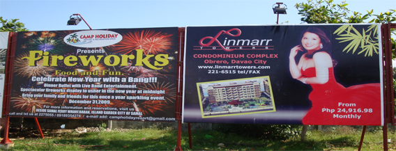Linmarr Towers Samal BillBoard