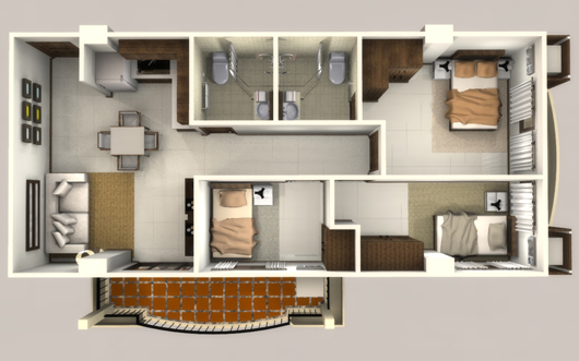 Image of a Linmarr Towers 3-bedroom Suite